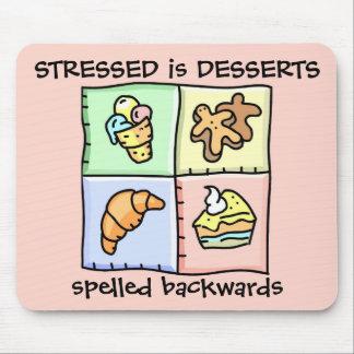 STRESSED es al revés - Mousepad deletreado los POS