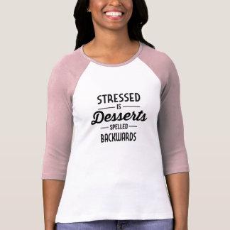 Stressed es postres deletreados al revés poleras