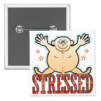 Stressed Fat Man Button