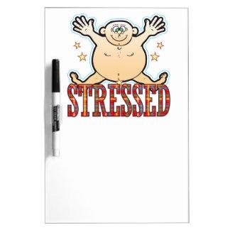 Stressed Fat Man Dry Erase Board