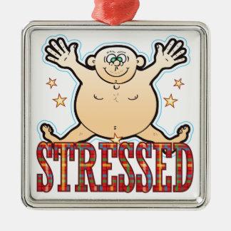 Stressed Fat Man Metal Ornament