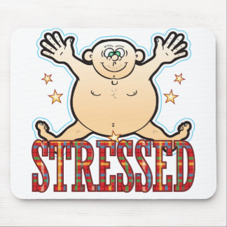 Stressed Fat Man Mouse Pad