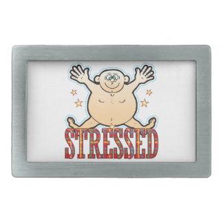 Stressed Fat Man Rectangular Belt Buckle