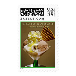 STRESSED is DESSERTS spelled backwards - Stamp