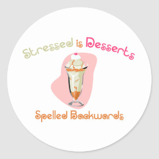 Stressed is Desserts Spelled Backwards Stickers