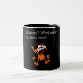 stressed kitty ringer mug