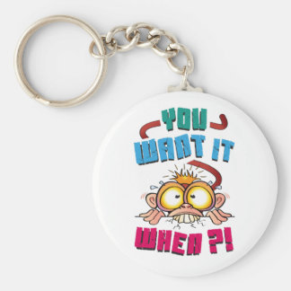 Stressed Monkey Keychain