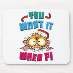Stressed Monkey Mouse Pad