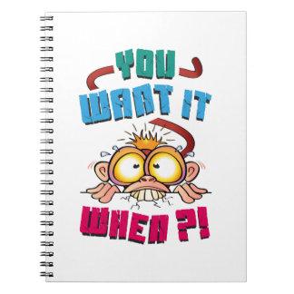 Stressed Monkey Notebook