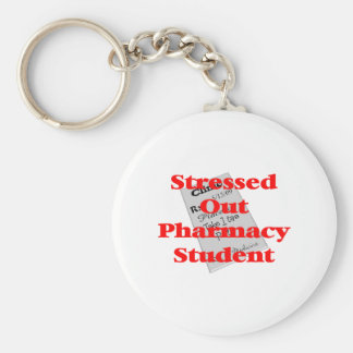 stressed out pharmacy student basic round button keychain