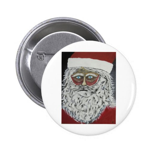 Stressed Out Santa Buttons