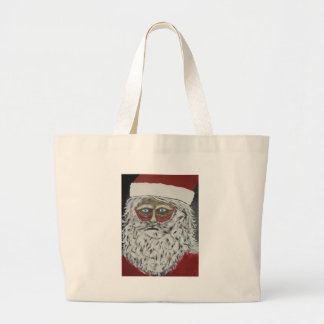 Stressed Out Santa Large Tote Bag