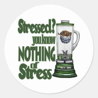 Stressed Puffer Fish Classic Round Sticker