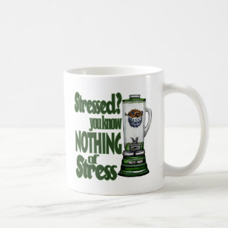 Stressed Puffer Fish Classic White Coffee Mug