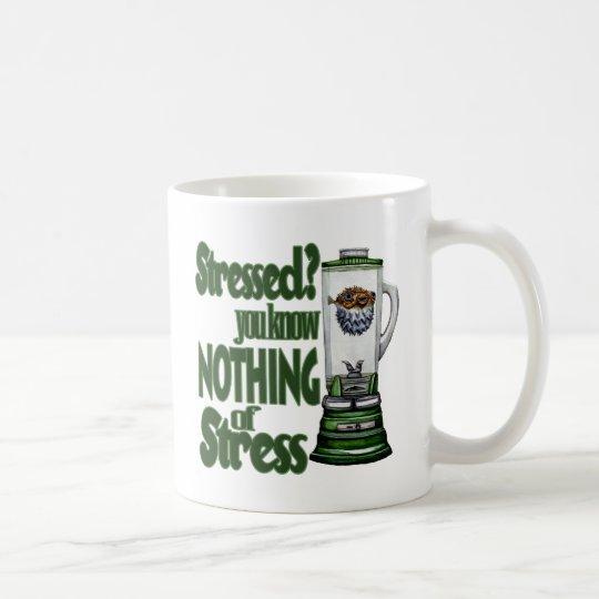 Stressed Puffer Fish Coffee Mug