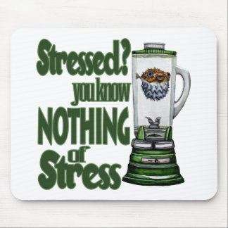 Stressed Puffer Fish Mouse Pad