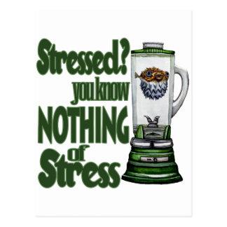 Stressed Puffer Fish Postcard