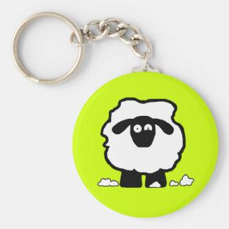 Stressed Sheep Basic Round Button Keychain