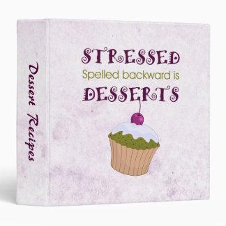 Stressed spelled backward is Desserts 3 Ring Binder