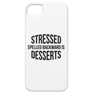 Stressed Spelled Backward Is Desserts iPhone SE/5/5s Case
