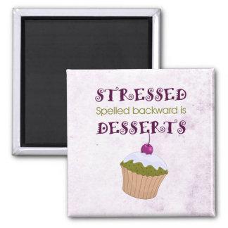 Stressed spelled backward is Desserts Refrigerator Magnet