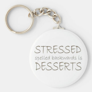Stressed spelled backwards is Desserts Keychain