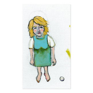Stressed woman let it go unique outsider art Double-Sided standard business cards (Pack of 100)