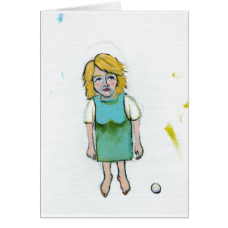 Stressed woman let it go unique outsider art greeting card