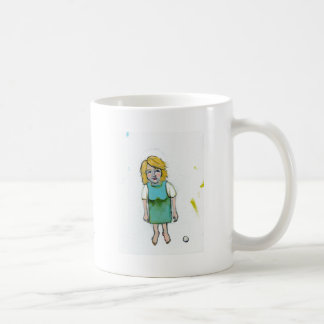 Stressed woman let it go unique outsider art classic white coffee mug