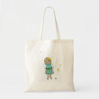 Stressed woman let it go unique outsider art tote bag