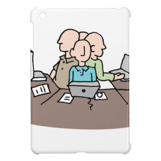 Stressful crowded workplace environment cover for the iPad mini