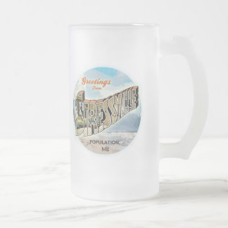 Stressful Greetings Frosted Glass Beer Mug