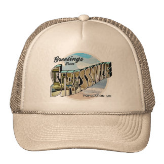 Stressful Greetings Mesh Hat