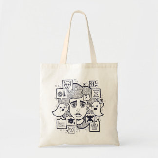 """""""Stresshead"""" Anxious Stressed Woman Drawing Tote"""