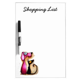 Stressie Cat Shopping List Dry-Erase Board