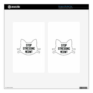 Stressing Meowt Decals For Kindle Fire