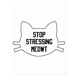 Stressing Meowt Postcard