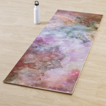 Stretch and Relax Mandala Space Yoga Mat