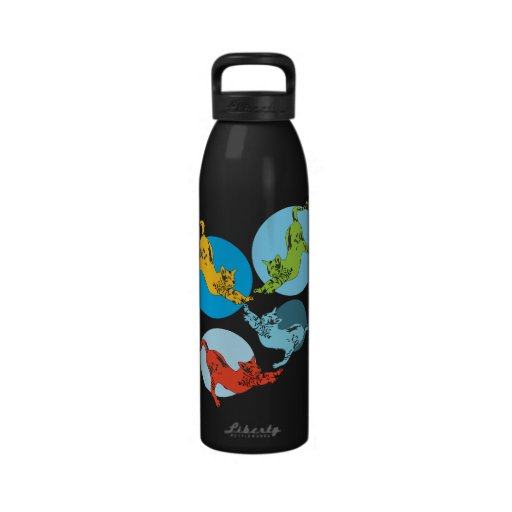 Stretch cats water bottle