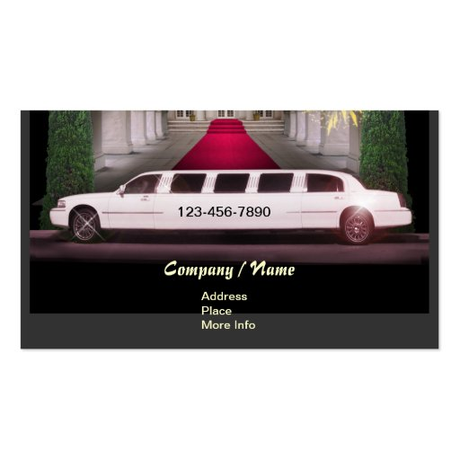 Stretch Limo Business Card Templates