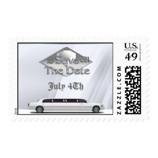 Stretch Limo Save The Date Postage