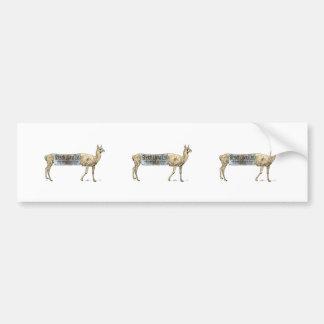 Stretch llama bumper sticker