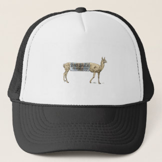 Stretch llama trucker hat