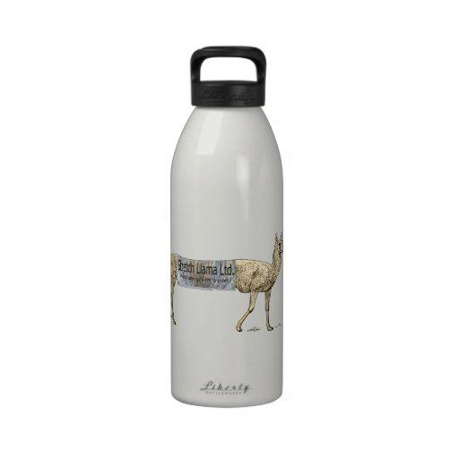Stretch llama reusable water bottle