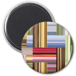 Stretch of Colors 2 Inch Round Magnet