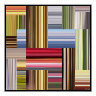 Stretch of Colors Poster