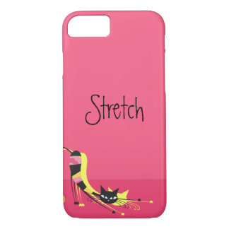 Stretch Striped Kitty on Pink iPhone 8/7 Case