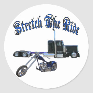 Stretch The Ride Classic Round Sticker