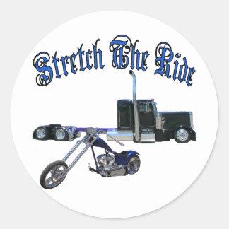 Stretch The Ride Round Sticker