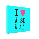 i [Love heart]   sd    i [Love heart]   sd    Stretched Canvas Canvas Prints